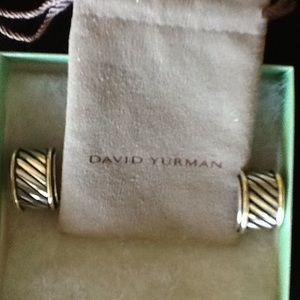 David Yurman cigar band earrings